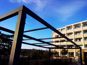 Outdoor roofing structure wrought iron  - General Metal Works Malta