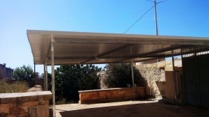 Outdoor roofing with foam boards (insulated)  - General Metal Works Malta