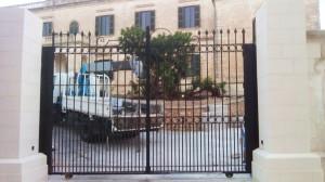 Black wrought iron gate  - General Metal Works Malta
