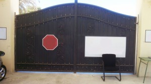 Black wrought iron security gate  - General Metal Works Malta