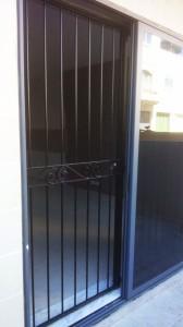 Black gloss security gate  - General Metal Works Malta