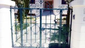 Green wrought iron gate  - General Metal Works Malta