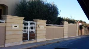 White front gate  - General Metal Works Malta