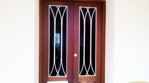 White wrought iron security door  - General Metal Works Malta