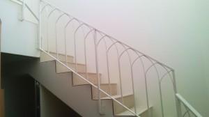 white hand railing wrought iron  - General Metal Works Malta