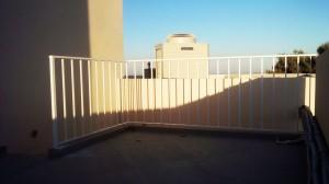 white hand railing outdoor wrought iron  - General Metal Works Malta