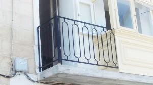 traditional black wrought iron balcony hand railing  - General Metal Works Malta