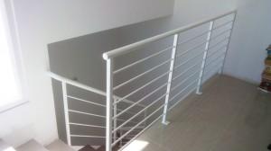 white hand railing  - General Metal Works Malta