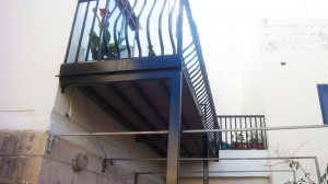Elevated wrought iron balcony and railing - General Metal Works Malta