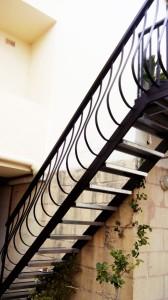 wrought iron railing staircase  - General Metal Works Malta