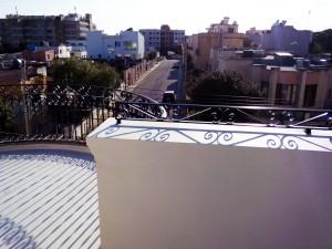 Roof hand railing wrought iron  - General Metal Works Malta