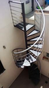 outdoor spiral stair case wrought iron  - General Metal Works Malta