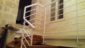 modern rounded hand railing  - General Metal Works Malta