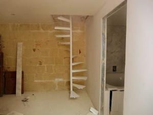 white spiral stair case wrought iron  - General Metal Works Malta