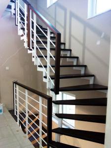white hand railing staircase  - General Metal Works Malta