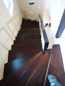 white staircase wooden  foot rests  - General Metal Works Malta