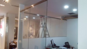 Glass door establishment with stainless steel frame - General Metal Works Malta