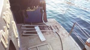Stainless steel salt water ladder - General Metal Works Malta