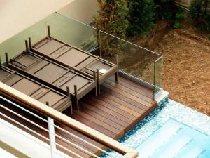 stainless steel skirting on pool decking - General Metal Works Malta