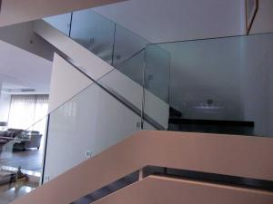 Stainless steel with featured glass hand railing - General Metal Works Malta