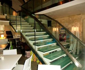 stainless steel stairs - hand railing - General Metal Works Malta