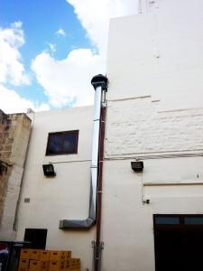 Stainless steel industrial catering chimney - General Metal Works Malta