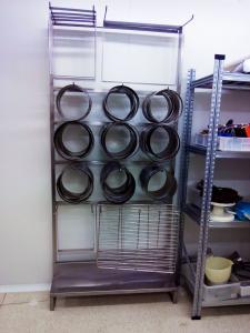Stainless steel custom shelves - General Metal Works Malta